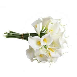 Calla Lily Bridal Wedding Bouquet 20 head Latex Real Touch