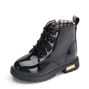 New 2020 Girls Leather Boots Boys Shoes Spring Autumn Pu Leather Children Boots Fashion Toddler Kids Boots Warm Winter 3bb sqchxn bdetrade
