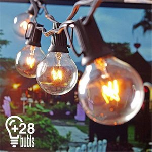 25 Bulbs Retro Bulb Power LED String Fairy Lights Solar Garlands Christmas Decor For Outdoor Garden Lamp