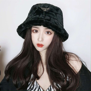 Autumn and winter fashion luxury new MAO MAO Fisherman hat warm basin hat imitation rabbit hair face big show face little lamb hair bucket h