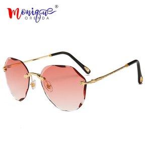 Vintage Women Sun Rimless Glasses Luxury Trimming Frame Less Gradient Men Sunglasses Fashion Eyewear 2020 For Sadba