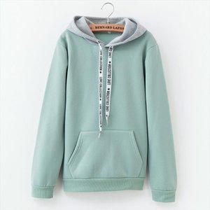 2020 Womens Winter New Solid Color Casual Top Hoodies Sweatshirts Sleeve Long Sleeve Sweatshirt Sportswear Drop Shipping