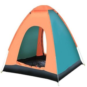 3-4 people, Outdoor Leisure Camp Waterproof Wind Triangle skylight anti-mosquito safety tent, double-sided zipper design, can survive in the