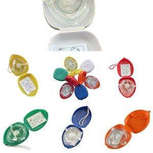 Masque de sauvetage Pocket 10pcs / Lot Resuscitor avec soupape respiratoire CPR à la main pour les premiers secours Équipement d'urgence Multijwgc 6RQUP
