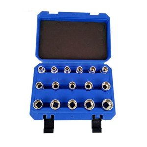 16 Pieces Set Gear Lock Sockets Wrench Set Auto Repair Household Tool Hand Tool Outside Inside Sockets