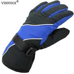 Visnxgi Winter Lycra Imperméable Multicolor Hommes Gants Thermal Turnproof Gardez Tour Chaud Esquiar Ciclismo Guantes Moto