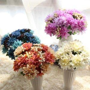 Dalia artificial Berry Bouquet Fruta Flower DIY Seda Flor de seda Hogar Fiesta de la boda Decoración de vacaciones Craft Envío gratis