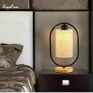 Lampada da tavolo Camera da letto Comodini Luci creativo cinese Retro tessuto di arte di legno Dimming Desk Lamp Home Decor tavolo Illuminazione dispositivo C0930