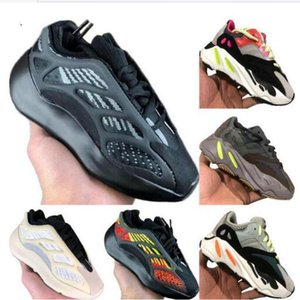 Di trasporto dei bambini delle ragazze dei ragazzi azael 700 V3 Statico bambini mesh traspirante scarpe da corsa Kanye West 700 V2 Kid Buffer scarpe di gomma Jogger