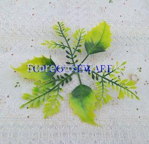 Rose Leaves Artificial Fake Plastic Rose Leaf DIY Handmade Wedding Flower Ball Accessorries Home Decoration