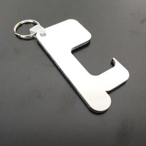 التسامي سلسلة المفاتيح عدم الاتصال مقبض الباب سلسلة المفاتيح MDF خشبي فارغ DIY سلاسل المفاتيح السلامة Touchless باب فتاحة لصالح حزب YYA532