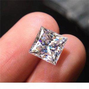Free ship 0.08CT to 6CT princess cut square shape real D color FL moissanite loose diamond excellent cut never fade test positive stone