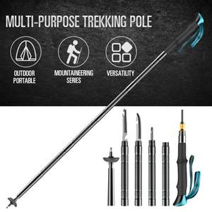 Alpenstocks Yürüyüş direkleri Açık Savunma Taktik Sopa Kamp Çok fonksiyonlu Alüminyum Alaşım Ayarlanabilir Trekking Pole 201113