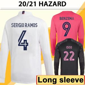 20 21 위험 asensio 모드 롱 슬리브 망 축구 유니폼 Sergio Ramos Benzema Isco Kroos Mariano 홈 멀리 3 축구 셔츠