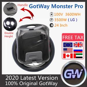 2020 Новые оригинальные Gotway монстр про Моноцикл 24-дюймовый 100V 3600WH про версию Монстр самообслуживания уравновешивать колеса Электрический самокат