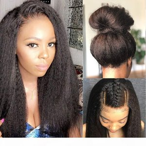 360 Lace Frontal Wig With Baby Hair 150% High Quality Mongolian Kinky Straight Human Hair Lace Front Wigs