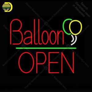 Néon signes ballon Panneau ouvert au néon Ampoules Affichage restaurant lampe néon Artesanat publicité Letrero Néons Lumine enseigne