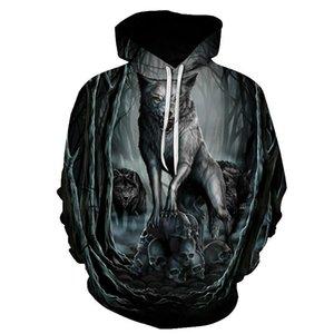 BIAOLUN 2020 New wolf hoodies Men's hoodie autumn Winter hip hop hoody Tops Casual Brand 3D wolf head Hoodie Sweatshirt