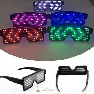Hot 11 Modes Quick Flash Led Neon Party USB Charge Luminous Glasses Christmas Concert Light Toys Rave Army Bomb Dropship