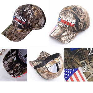 Camo Donald Trump Hat Make America Great MAGA Caps USA Flag 3D Embroidery Letter Snapback Camouflage Mens Baseball Cap for Women BED244