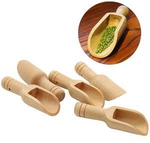 Mini Holzschauflinge Bad Salzpulver Waschmittel Pulver Löffel Süßigkeiten Wäscherei Tee Kaffee Löffel Umweltfreundlich Holz Mini Jlhsy Lucky2005