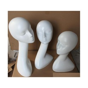 Gloss White Female Mannequins Head Long Neck Model Head Hair Displayer For Wig Hat Scar qylHqN bdehair