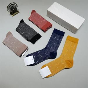Calze atletiche della lettera classica con la scatola Circle Point Fashion Socks Street skateboard calzini coppia calzini traspiranti Adolescenti calzino per adulti