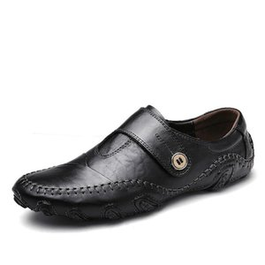 Winter Men Leather Shoes Casual Men Loafers Flats Shoes Moccasins Men's Loafers Genuine Leather Male Oversized Sneaker