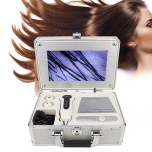 헤어 오일 10.1 인치 상자 형 두피 헤어 소낭 얼굴 피부 감지기 분석기 기계 디지털 피부 건강 검출