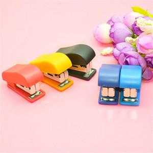 Portable Quality Kawaii Mini Small Stapler Useful Staples Set Office Binding Stationery DHL Free Shipment