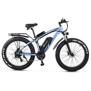 MX02S 26 Inch Electric Bike 1000W Mens Mountain Bike Snow Bike 48V 17Ah Lithium Battery 4.0 Fat Tire E-bike Hydraulic Disc Brake