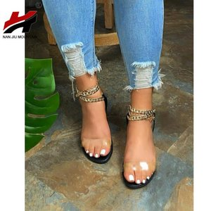Nan Jiu Mountain 2021 Sandalias planas para mujer Summer Open Toe Cadena zapatos de mujer moda al aire libre zapatos de playa más tamaño 43