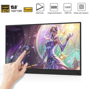 """15.6"""" Touch Screen Portable Monitor IPS screen USB Type C HDMI display for PS4 Switch XBOX Huawei with Smart Case 1080"""