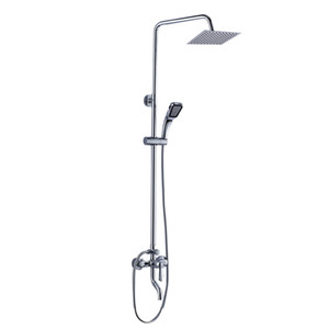 Wall-mounted chrome-plated bathroom hand spray mixer faucet rainwater shower faucet set head family bathroom multifunctional shower set