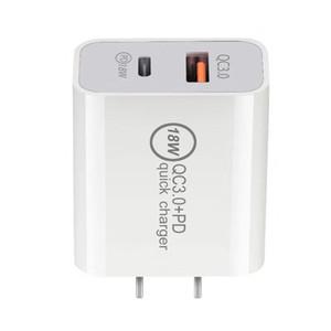 20W 18W 듀얼 USB 충전기 빠른 요금 3.0 PD 3.0 빠른 충전 전화 벽 어댑터 USB 유형 C 빠른 충전기 Samsung Uk Au Eu Us