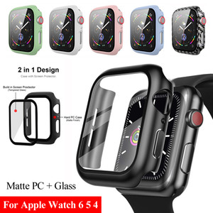 PC Protector Case with Tempered Screen Glass 2 In 1 for iWatch 1 2 3 4 5 6 Protective Shell