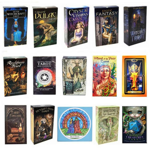 16 стилей Tarots Witch Rider Smith Waite Shadowscapes Wild Tarot Publue Press Game Cards с красочной коробкой английская версия FY4449