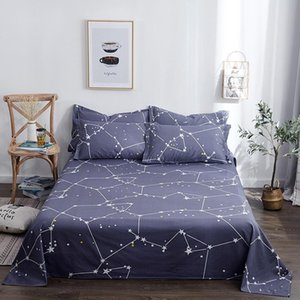 1 Piece 100% Cotton Flat Sheet For Children Adults Single Double Bed Cartoon North Star Flat Bedsheets (No case) XF716-23