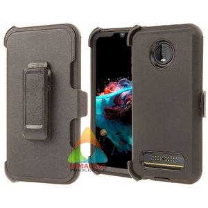 Motorola Z4 (VER) Étui de téléphone cellulaire Heavy Duty Duty Couche Dual Couche PROTABLE DE PROTECTION PROTECTION ACTROCHES ANTI-Scratches Cas robuste pour Z4 (VER)