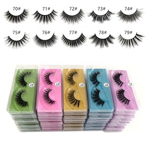 DHL free ship 70#~79# 3d Mink eyelash set False Eyelash Soft Natural Thick 3d mink HAIR false eyelash natural Extension 3d Eyelashes