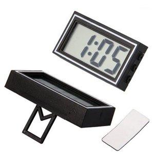 جودة عالية مصغرة poratble الإلكترونية سيارة مكتب التاريخ الوقت التقويم ساعة الرقمية lcd السيارات شاحنة ساعة dashboard1