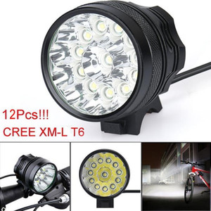 LED lamp Super Bright 34000 Lm 12x CREE T6 LED 3 Modes Bicycle Lamp Bike Light Headlight Cycling Torch Hot Sell Drop Shipping