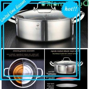 304 RVS SOEPPAN Dense Mandarin Eend Pot Hot Pot Inminduction Induction Fornuis House Kitchen Supplies