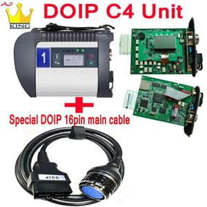 Самое лучшее качество MB звезда c4 плюс функция DoIP с Wi-Fi SD Connect диагностический инструмент для автомобилей / Грузовик MB с4 (только главный блок + 16pin кабель)