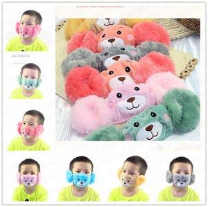 Winter Warm Plush Face Mask Cartoon Adult Kids Masks Family Matching Facemask Fleece Mask Mouth-muffle Earmuff Windproof Ear Warmer E92902