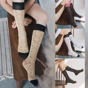 Sonbahar ve Kış Yeni Stil Şeker Renkli Naylon Moda Altın İpek Çorap Düz Kız Çorap