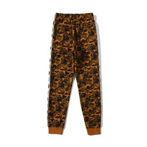 New Arrival Teenager Desert Terry Camo Hip Hop Trousers Men Women Black Cartoon Print Loose Pants
