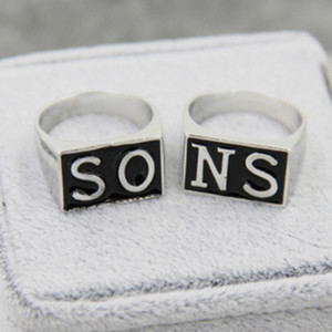 The Sons Of Anarchy Rings Men Rock Punk Cosplay costume Silver Size 8-13 Harley Motorcycle ring finger