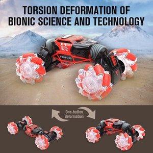 Gesto 4WD Stunt Watch Control induzione deformabili elettrici RC Drift Transformer giocattoli dell'automobile per i bambini con luce LED