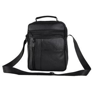 Single-shoulder Messenger Travel Cross Body Real Leather Briefcase Business Men